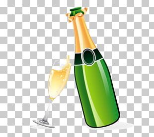 Champagne Graphics Wine Illustration PNG