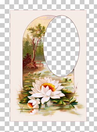 Floral Design Landscape Painting Embroidery PNG