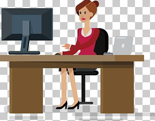 Office Desk Businessperson PNG