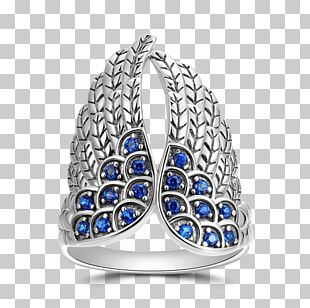 Ring Sapphire Sterling Silver Jewellery PNG