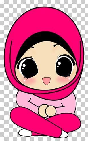 Hijab Cartoon Drawing Muslim Islam PNG