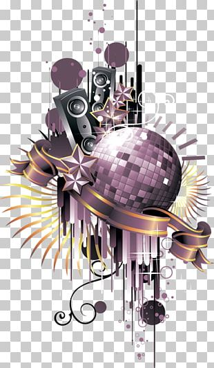 Nightclub Disco Ball PNG