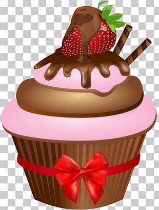 Ice Cream Sundae Cupcake Muffin Chocolate Cake PNG