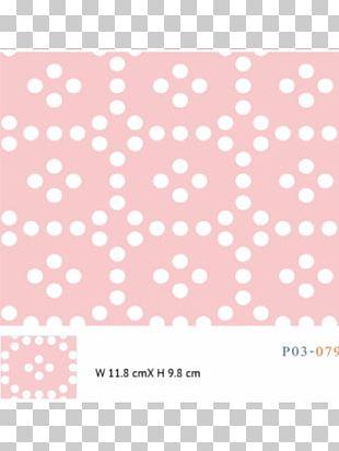 Polka Dot Textile Line Point Pink M PNG