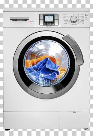 Washing Machine Clothes Dryer Home Appliance Efficient Energy Use PNG