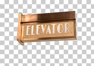 Art Deco Elevator Sign PNG