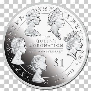 Commemorative Coin Coronation Of Elizabeth II New Zealand Monarch PNG