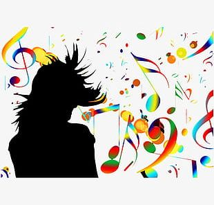 Creative Musical Elements PNG