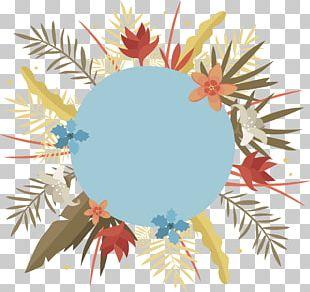 Floral Frame Header Box PNG