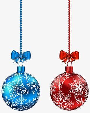 Colored Christmas Balls PNG