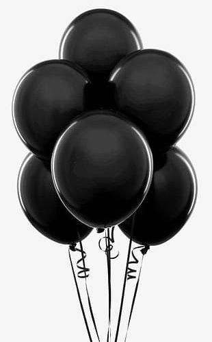 Black Balloon PNG