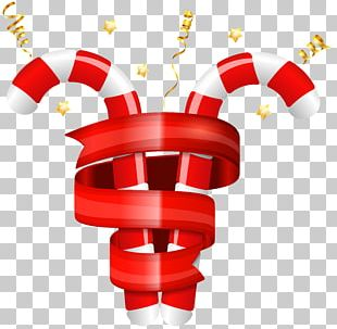 Candy Cane Christmas Card PNG