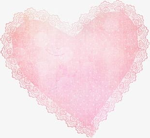 Pink Lace Heart PNG
