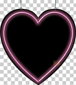 Heart Neon Sign Signage Light PNG