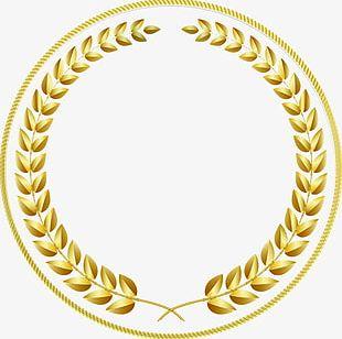 Gold Circular Border PNG