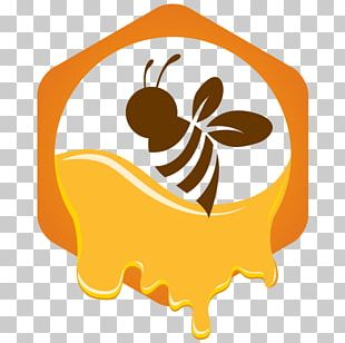Honey Bee Logo European Dark Bee PNG