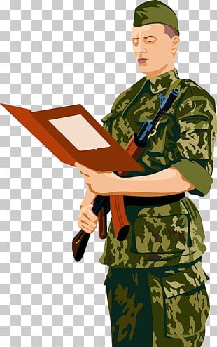 Military Soldier Drawing PNG