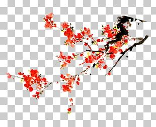 Portable Network Graphics Blossom Ink Wash Painting PNG