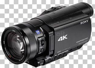 Camera Lens Video Cameras Sony Handycam FDR-AX100 PNG