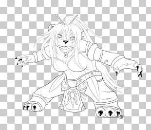 White Line Art Character Fiction Sketch PNG