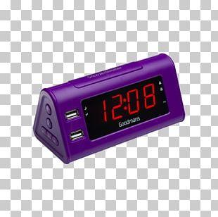 Purple Alarm Clocks FM Radio Alarm Clock Sangean AUX RCR-9 PNG
