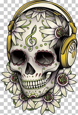 Calavera Tattoo Skull Day Of The Dead Drawing PNG