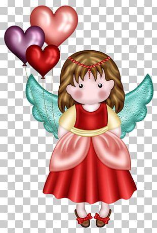 Angel Love Valentines Day Illustration PNG