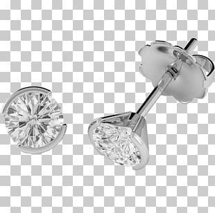 Earring Brilliant Diamond Cut Gold PNG