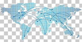 World Map Dot Distribution Map PNG