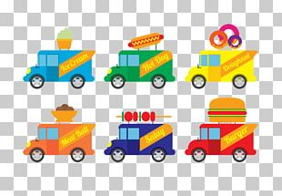 Food Truck Ice Cream Car PNG