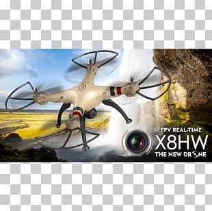 Helicopter Quadcopter Unmanned Aerial Vehicle First-person View Syma X8HW PNG