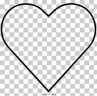 Heart Outline Valentine's Day PNG