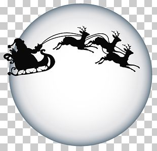 Santa Claus's Reindeer Santa Claus's Reindeer Silhouette PNG