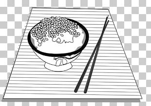 Black And White Rice Drawing PNG