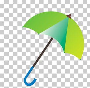Umbrella Green Angle Font PNG