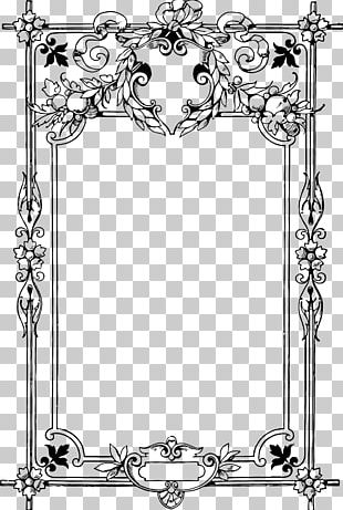 Borders And Frames Coloring Book Child PNG