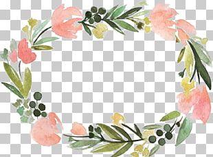 Floral Border Label PNG