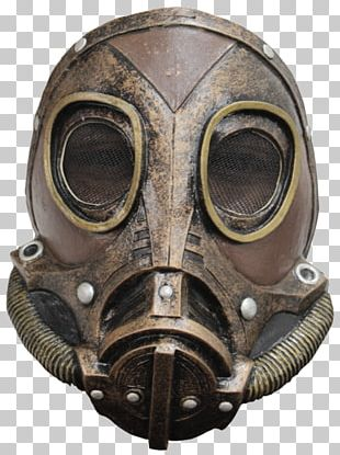 Latex Mask Steampunk Costume Gas Mask PNG