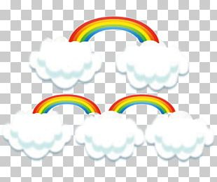 Rainbow Cloud Yellow Computer File PNG
