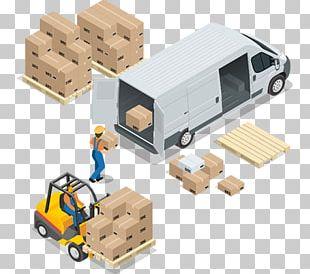 Cargo Van Logistics Warehouse Transport PNG