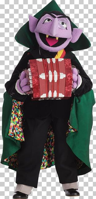 Count Von Count Count Dracula Grover Big Bird Elmo PNG