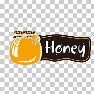 Logo Banner Poster Honey PNG