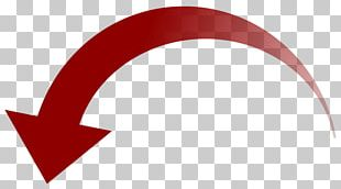 Curved Red Down Arrow PNG