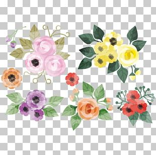 Floral Design Flower Watercolor Painting Creative Watercolor PNG