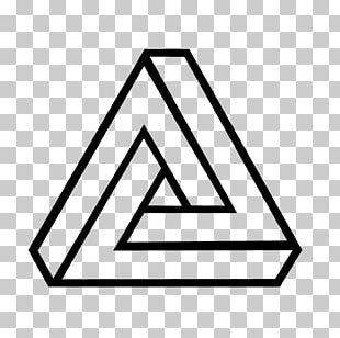 Penrose Triangle Impossible Object Geometry Geometric Shape PNG