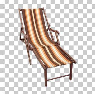 Deckchair Chaise Longue Wood Sunlounger PNG