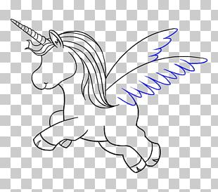 Line Art Drawing Unicorn PNG