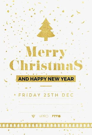 Merry Christmas Poster Design For Free PNG