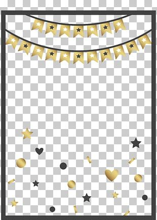 Birthday Party Anniversary Poster Pattern PNG