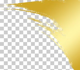 Paint Ink Gold PNG